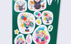 アートフェスタくさつ2018 キャラクターたび丸・グッズデザイン